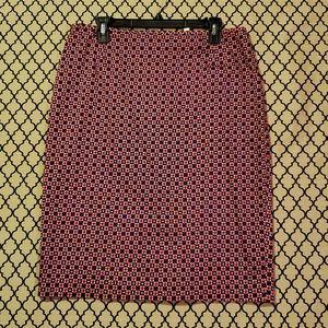 Alex Marie mini square pattern skirt size 12